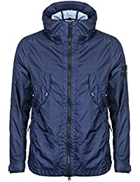 Stone Island Jacket Ink Blue Membrana 3L TC Hooded Jacket – RRP £495 – (681541123 V0026)