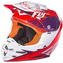 Fly Racing F2Carbon MIPS Retrospect casco per adulti, viola/arancione, taglia XL