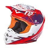 Fly Racing F2Carbon Mips Rückblick Erwachsene Helm, Violett/Orange, Größe XL