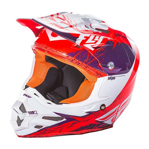 Fly Racing F2Carbon Mips Rückblick Erwachsene Helm, Violett/Orange, Größe S (Thor Racing)