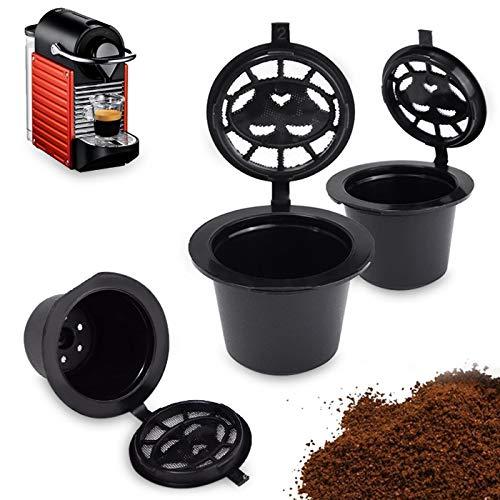 ZhangHongJ,Edelstahlfilter nachfüllbarer Kaffee-Kapsel-Schalen-Nahrungsmittelgrad pp wiederverwendbarer zusätzlicher Filter verwendbar für Nespiso Kaffeemaschine 1PC(color:SCHWARZ,size:1PC)