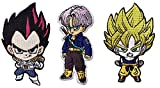 Dragon Ball Z Capsule Corp Saiyan Goku + SD Vegete + Dragon Ball 3pcs Patch set