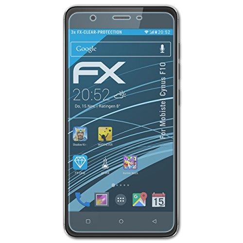 atFolix Schutzfolie kompatibel mit Mobistel Cynus F10 Folie, ultraklare FX Bildschirmschutzfolie (3X)