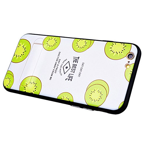 SMART LEGEND iPhone 6S Plus Hardcase iPhone 6 Plus Hülle mit Standfunktion Schutzhülle mit Frucht Obst Muster Shiny Tasche Skin Schale Hart PC Backcover Case für iPhone 6 Plus/iPhone 6S Plus Hartschal Kiwi
