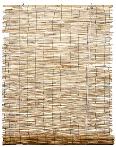 Italfrom Arella in Bamboo verschiedenen Maßnahmen Gipserbeil Arelle Schatten Vorhang mit Seilzug (120x 260cm)