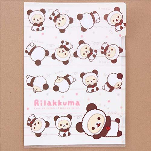 creme Rilakkuma Panda Bär Punkt A4 Schnellhefter - Rilakkuma Bären Kostüm