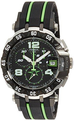 Tissot Herren-Armbanduhr Armband Kautschuk Gehäuse Edelstahl Schweizer Quarz Chronograph T0924172705701 (Tissot Uhren Männer Luxus)