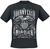 Johnny Cash Outlaw Music T-Shirt schwarz L