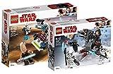 Star Wars LEGO Jedi und Clone Troopers Battle Pack 75206 Spielzeug + LEGO 75197 - First Order Specialists Battle Pack, Spielzeug