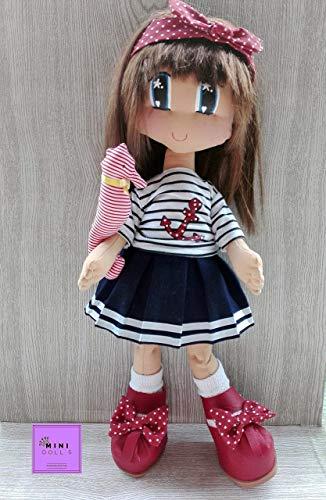 Muñeca de trapo para niñas. Muñecas de tela.Doll. Decoracion. Bebe. Umiko.