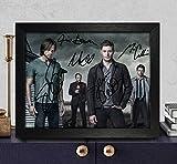 Supernatural Cast Signé autographe Photo 8x 10Reprint RP PP [Jim Beaver, Mark Sheppard, Misha Collins, Jared Padalecki et Jensen Ackles]