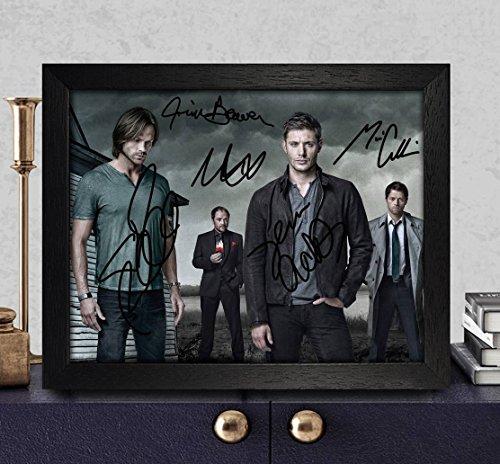 Reprintz Graphs Supernatural, mit Autogramm-Foto, 8x[RP PP, die ein, Sheppard, Jim Beaver, Misha Collins, Jared Padalecki/Jensen Ackles
