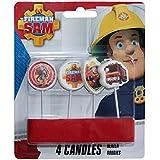 Sam El Bombero - Fireman Sam - Fiesta de Cumpleaños Torta Velas 4 pcs.