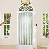 Chain Strip Door Curtain Hug Flight® Green Silver Aluminium metal Fly Pest Screen Control 90cm x 210cm