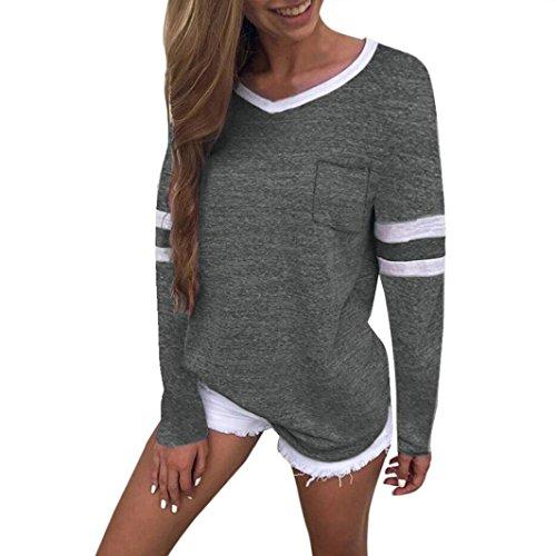 ed0bc5e4e625 ESAILQ Damen Pailletten Shirt Träger Top Weste Top Oberteil Ärmellos T-Shirt  Tanktop Blouse(XL,Dunkelgrau)