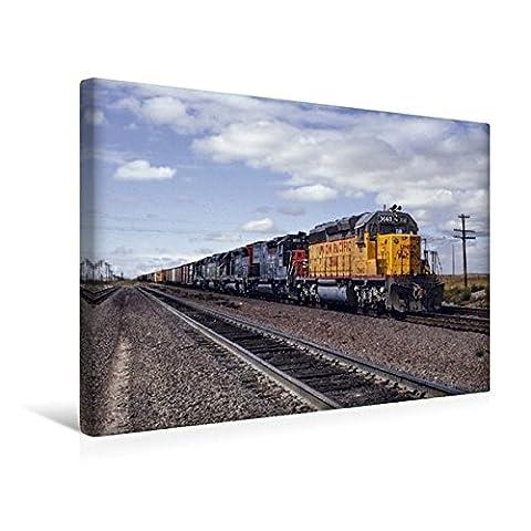 Premium Textil-Leinwand 45 cm x 30 cm quer, Union Pacific, Cheyenne, Wyoming, 1981 | Wandbild, Bild auf Keilrahmen, Fertigbild auf echter Leinwand, Leinwanddruck (CALVENDO Mobilitaet)