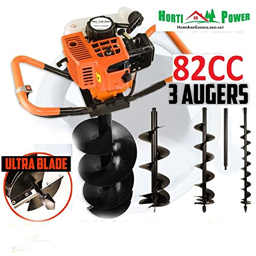 professional-earth-auger-post-pole-borer-82-cc-3-drills-bits-100-200-300-ultrasharp-with-extensions