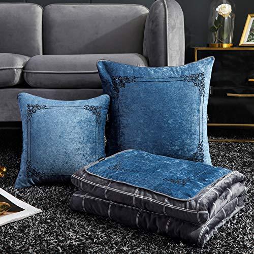 MMRRQK Pillow Zweiseitiges Sofakissen Plüschkissenbezug im europäischen Stil 50 x 50 cm 150 x 190 cm Versace aufklappen