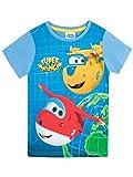 Super Wings Camiseta Para Niño Jett y Donnie Azul 3 Años