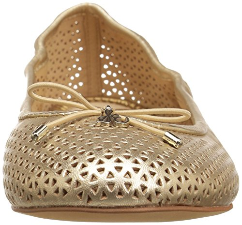 Sam Edelman Felicia Perforated Ballet Flat Molten Gold Leather