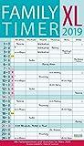 XL Family Timer 239619 2019: Familienplaner mit 6 breiten Spalten. Hochwertiger Familienkalender mit Ferienterminen, extra Spalte, Vorschau bis März 2020 und nützlichen Zusatzinformationen.