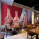 Sfondi creativi moderni 3D Carte da parati non tessute viola Fiori Sfondi per soggiorno Decorazioni per la casa Bar KTV Tema murale @ 430 * 300 cm