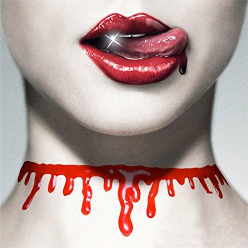 TK Gruppe Timo Klingler 1x Blutkette Halskette Kette Blut ALS Accessoires für Halloween Kostüm Damen und Herren wie Dracula UVM.