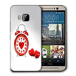 Snoogg Alarm Of Love Designer Protective Back Case Cover For HTC ONE M9