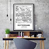 wydlb Moderne Rotterdam Stadtplan Niederlande
