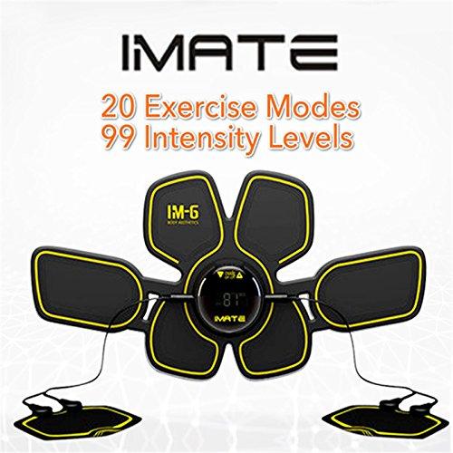 IMATE EMS ab Unterleib Gürtel Bauchmuskeln Toner ab Toner Bauch-Muskulatur Trainer Wireless Training Gear für Bauch/Arm/Oberschenkel/Taille Unterstützung für Damen und Herren