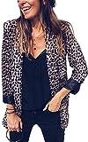 Angashion Damen Herbst und Winter Mode Schlange Und Leoparden Drucken Revers Anzüge Mantel -Parka - Jacke