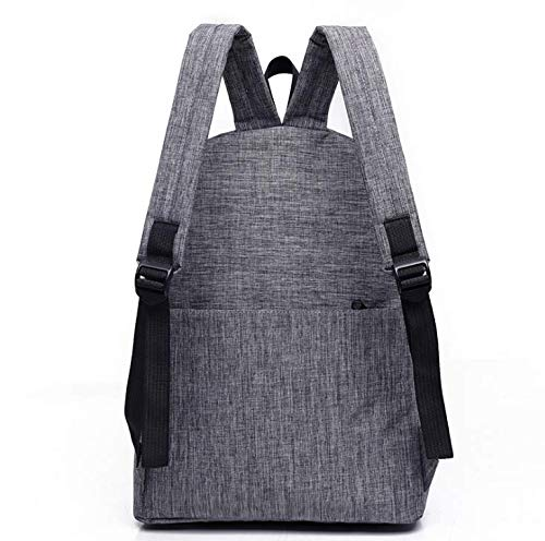 Diswa Classical Unisex Backpack for Women Nylon Child School Bag Special Use for Picnic 30 * 40 * 16 cm (Gray) Image 6