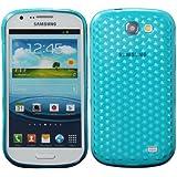 Luxburg® Housse Etui Coque Samsung Galaxy Express silicone case TPU Bleu aigue-marine / bleu clair