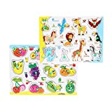 #6: FabSeasons Colorful Wooden Fruits and Animals Blocks / Puzzle for Kids