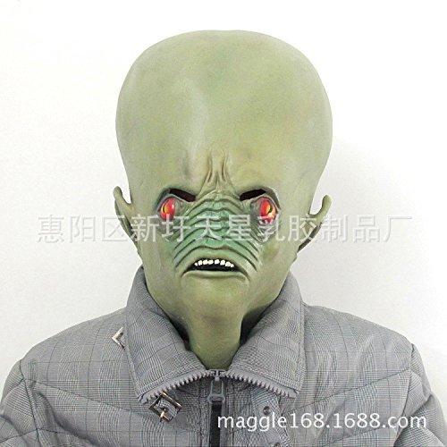Green Face Bald Head Alien Head Mask by Dreambeauty