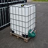 IBC Wassertank 1000L, Blase auf Holzpalette mit Weidertänke und Verbindungsset Gitterbox gebraucht.