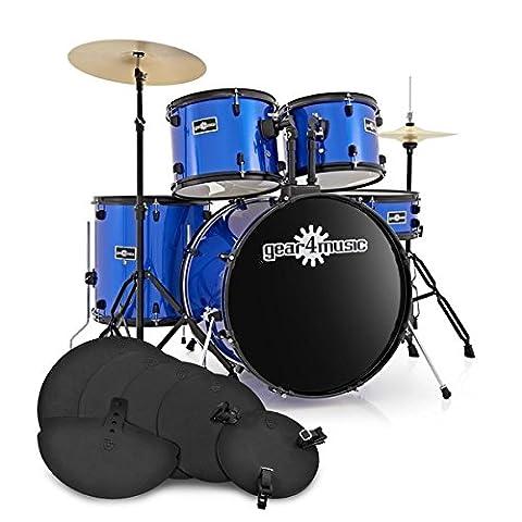 BDK-1 Full Size Starter Drum Kit + Practice Pack Blue
