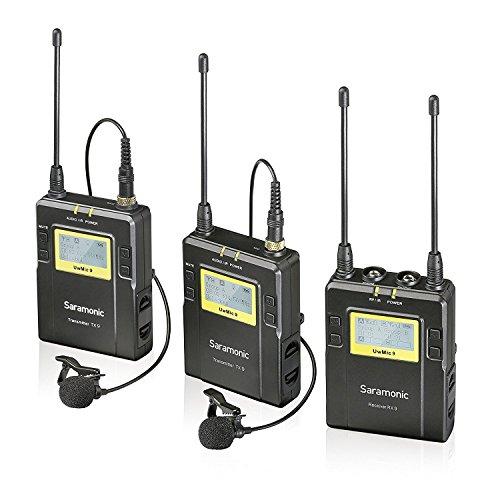 Saramonic uwmic9-tx9+ TX9+ RX9–System Lavaliermikrofon kabellos, Schwarz
