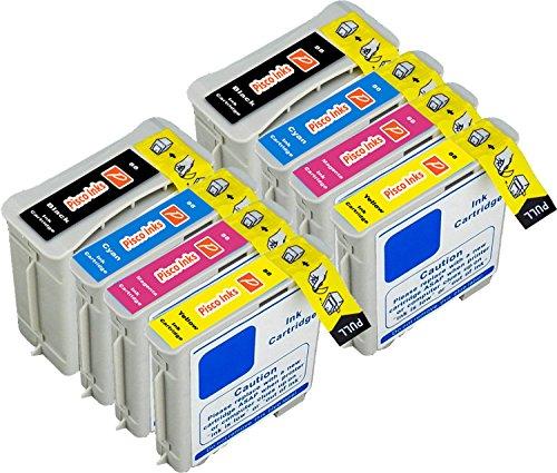 8 Pisco Inks HP 88 Cartuchos de Tinta HP Officejet Pro K5400 K5400dn K5400dtn K5400dtwn K5400n K550 K550dtn K550dtwn K8600 K8600dn L7480 L7550 L7555 L7580 L7590 L7680 L7780