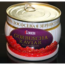 500g GORBUSHA CAVIAR SALMON PINK RED KAVIAR IKRA. At our LOW PRICES you can afford real CAVIAR by the SPOONFUL!
