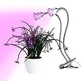 Amzdeal Pflanzenlampe Wachstumslampe Blumenlampe, Pflanzenbeleuchtung mit 360 Grad Drehung (10W Doppelter Kopf)