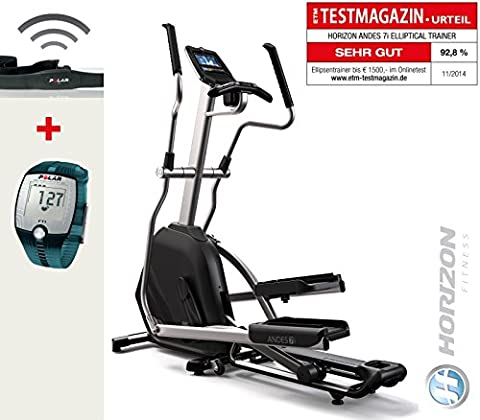 Andes 7i Horizon Fitness Crosstrainer und FT1 Polar Pulsuhr inkl. T31 Brustgurt