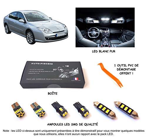 Pack FULL LED intérieur pour Laguna 3 (Kit ampoules blanc pur)
