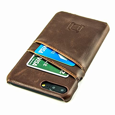 iPhone 7 Plus Card Case by Dockem- Minimalist Vintage Synthetic Leather Wallet Case, Ultra Slim Professional Executive Snap On Cover with 2 Card Holder Slots,