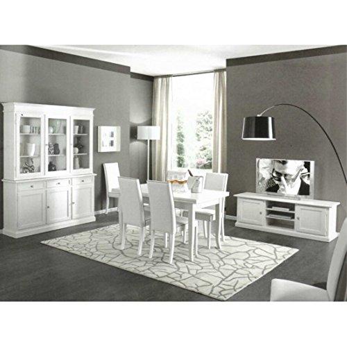 estea Mobiles – Salle complète comme Photos Bois Massif Blanc Mat