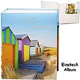 Unbekannt großes Einsteckalbum / Memoalbum / Fotoalbum -  Reise / Urlaub - Strand Haus & Küste  __ 200 Bilder & Fotos - 10 x 15 - Gebunden zum Einstecken - groß 50 Se..