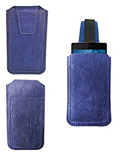 Premium Branded Pull Up Pouch For Micromax Bolt Q331 - PUPBL45#1103 - Blue