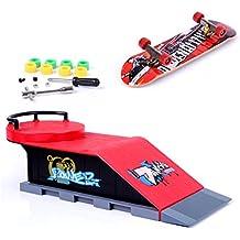Los Mini Accesorios De Skate Y De Rampa Fijado D #