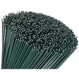 (300x1.2) 250 g verde lacados (87 Alambres) 30.5cm Floristerías Grueso Stub Alambre Calibre 18