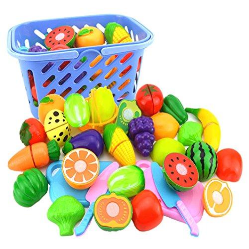 Xshuai Kinder Rollenspiel Küche Obst Gemüse Lebensmittel Spielzeug Schneiden Set Weihnachtsgeschenk Für Kind kreativität und denkfähigkeit (Zombie Ninja Kostüme)